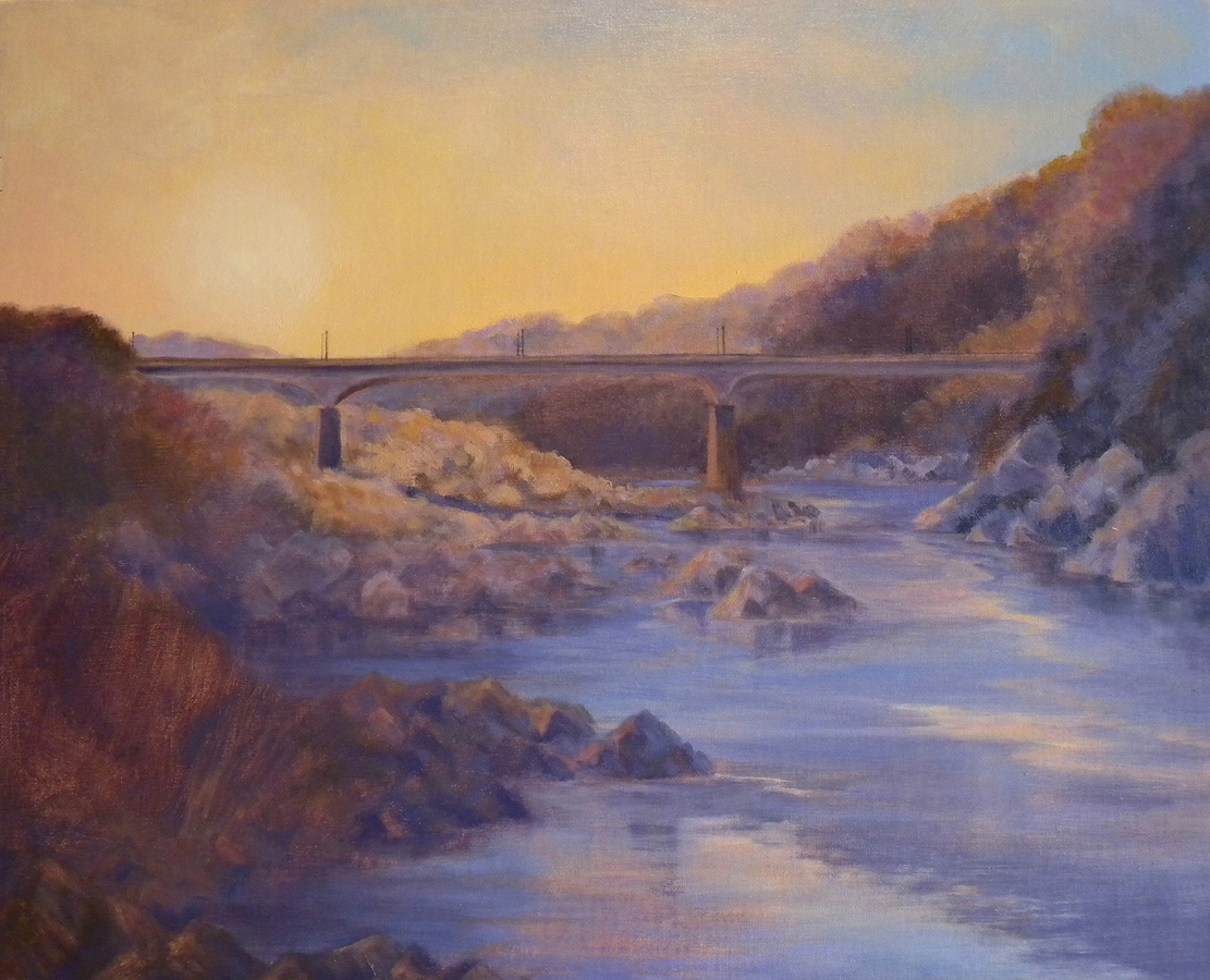 The Chain Bridge, Winter Sunrise